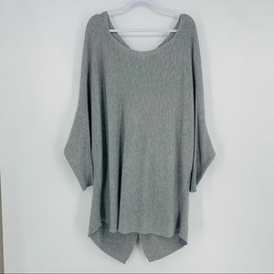 1. State Grey Ribbed Knit Slouchy Knot Sweater